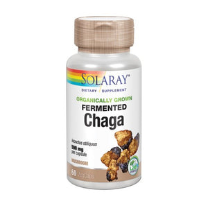 Fermented Chaga 60 Veg Caps by Solaray (2590300799061)