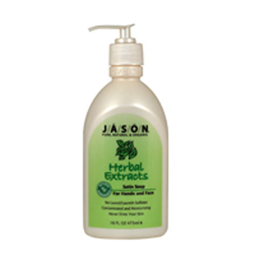 Satin Soap Herbal w/Pump 16 Oz by Jason Natural Products