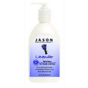 Satin Soap Lavender w/Pump 16 Oz by Jason Natural Products (2583991550037)