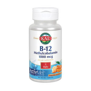 B12 Methylcobalamin ActivMelt Vegetarian Tangerine 90 Count by Kal