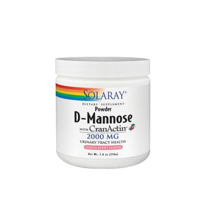 D-Mannose with CranActin Lemon Berry 216 Grams by Solaray