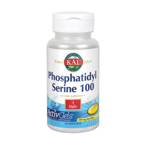 Phosphatidylserine 100 30 Softgels by Kal (2590307385429)