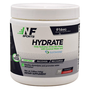 Hydrate Powder Strawberry 140 Grams by NF Sports
