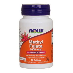 Methyl Folate 90 Tabs by Now Foods