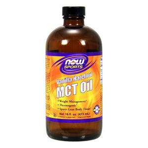 MCT Oil Vanilla Hazalnut 16 Oz by Now Foods