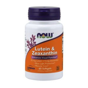 Lutein & Zeaxanthin 60 Softgels by Now Foods (2590309548117)