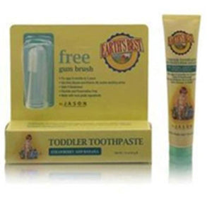 Earth's Best Toddler Toothpaste Strawberry & Banana 1.6 Oz by Earth's Best  (2584197038165)