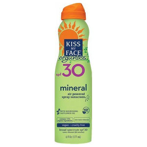 Organic Mineral Spray Sunscreen SPF 30 6 Oz by Kiss My Face
