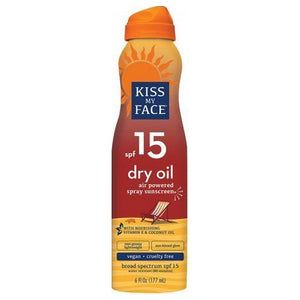 Dry Oil Sunscreen Spary SPF 15 6 Oz by Kiss My Face