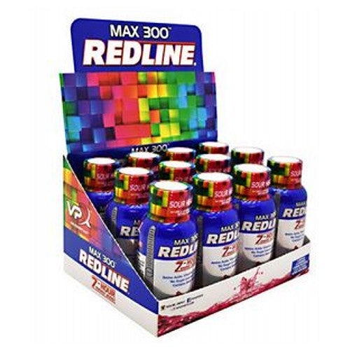 Redline Max 300 Sour Heads 24 X 2.5 Oz by VPX Sports Nutrition