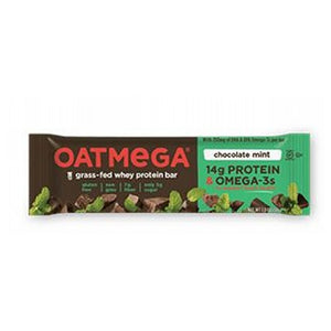 Grass Fed Whey Protein Bar Chocolate Mint Crisp 12 Pack by Oatmega (2587809644629)