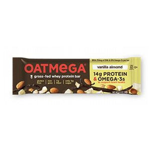 Grass Fed Whey Protein Bar Vanilla Almond Crisp 12 Pack by Oatmega (2587809841237)
