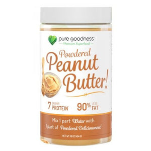 Peanut Butter Powdered 16 Oz by Pure Goodness