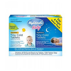 Baby Day & Night time Tiny Cold 2/125 Tabs by Hylands