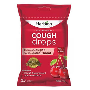 Cough Drops Cherry 25 Count by Herbion