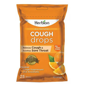 Cough Drops Orange 25 Count by Herbion
