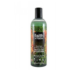 Shower Gel & Foam Bath Aloe Vera & Ylang Ylang 13.5 Oz by Faith in Nature