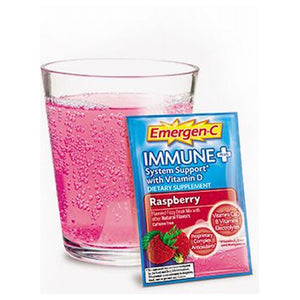 Emergen-C Immune Plus Raspberry 45 Count by Alacer (2587829469269)