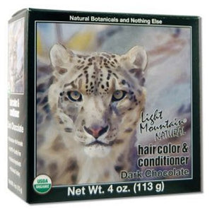 Narural Hair Color & Conditioner Dark Chocolate 4 Oz by Light Mountain