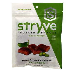 Turkey Bites Jalapeno 4 Oz by Stryve Protein Snacks