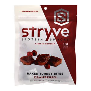 Turkey Bites Cranberry 2.5 Oz by Stryve Protein Snacks