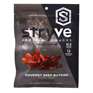 Beef Biltong Smoked 4 Oz by Stryve Protein Snacks