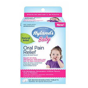 Baby Oral Pain Relief 125 Tabs by Hylands