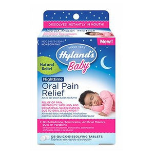 Baby Oral Pain Relief Nighttime 125 Tabs by Hylands
