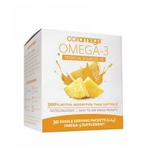 Omega-3 Tropical Squeeze +D Tropical Orange 30 Count by Coromega