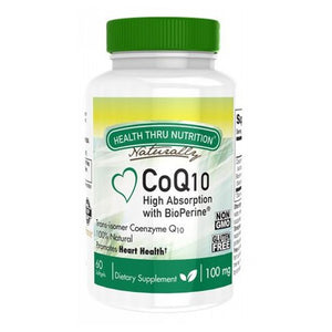 Coq-10 60 Softgel by Health Thru Nutrition