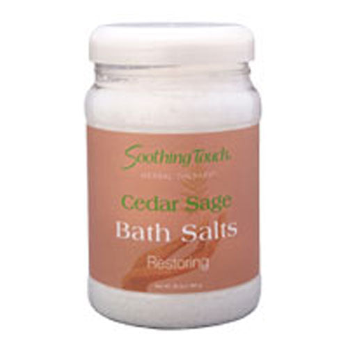 Bath Salt Peppermint 8 Oz by Soothing Touch
