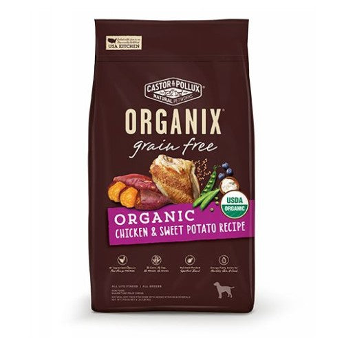 Organic Dog Food Organic Chicken Oatmeal 10 lbs by Castor & Pollux