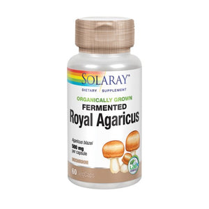 Fermented Royal Agaricus 60 Veg Caps by Solaray (2590331502677)