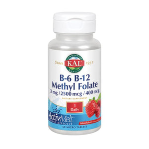 B6 B12 Methyl Folate 60 Count by Kal