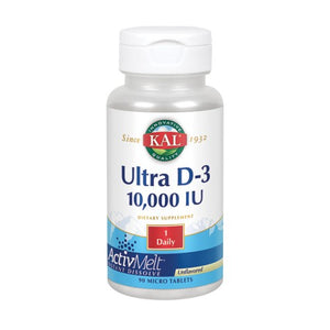 Ultra D-3 10000 IU ActivMelt 90 Count by Kal (2590333272149)