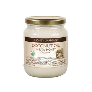 Coconut Oil in Raw Honey 1 lb by Honey Gardens Apiaries