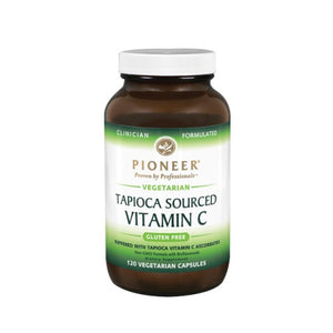 Tapioca Sourced Vitamin C 120 Veg Caps by Pioneer Nutritionals