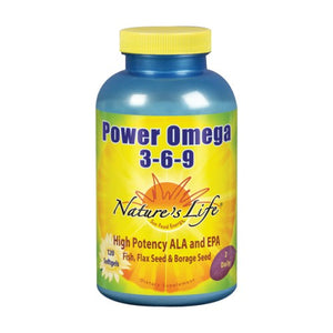 Power Omega 3-6-9 120 Softgels by Nature's Life