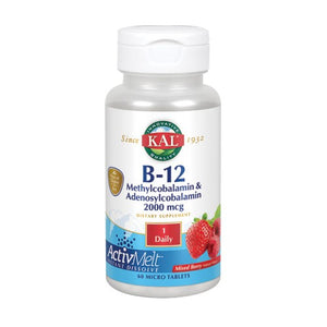 B-12 Methylcobalamin Adenosyl 60 Count by Kal (2590340415573)