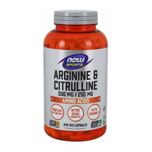 Arginine Citrulline 240 Veg Caps by Now Foods