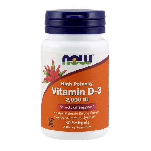 Vitamin D-3 30 Softgels by Now Foods