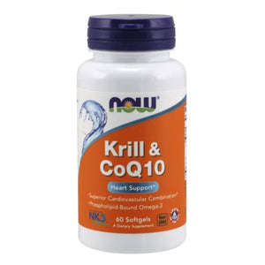 Krill Oil & Coq10 Heart Support 60 Soft Gels by Now Foods