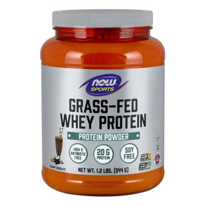 Grass-Fed Whey Protein Dutch Chocolate 1.2 lbs by Now Foods