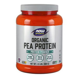Organic Pea Protein Chocolate 1.5 lbs by Now Foods