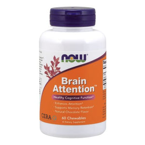 Brain Attention 60 Chewable Tabs by Now Foods (2590341300309)