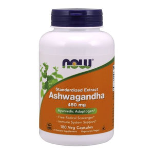 Ashwagandha 180 Veg Caps by Now Foods (2590341464149)