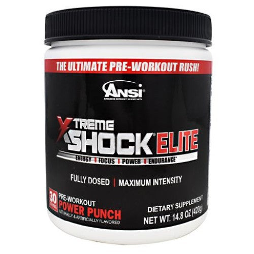 Xtreme Shock Elite Power Punch 30 Servings by Advanced Nutrient Science Intl