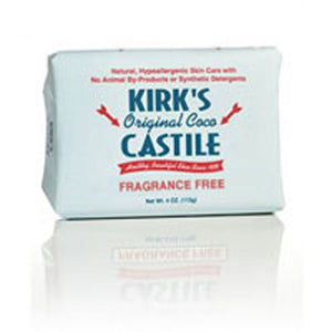 Castile Soap Fragrance Free 4 Oz by Kirk's Natural Products (2584245403733)