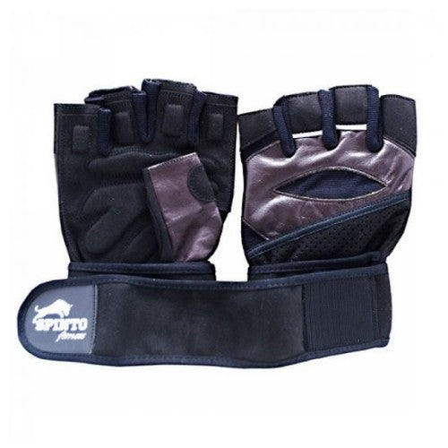 Mens Weight Lifting Gloves with Wrist Wraps Small 1 Each by Spinto USA LLC