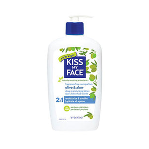 Deep Moisturizing Lotion Olive & Aloe Fragrance Free, 16 Oz by Kiss My Face (2588885811285)